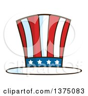 Clipart Of A Patriotic American Top Hat Royalty Free Vector Illustration by Hit Toon