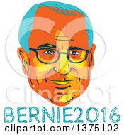 Clipart Of A Retro Wpa Styled Portrait Of Bernie Sanders Democratic Presidential Candidate With Text Royalty Free Vector Illustration