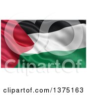 Clipart Of A 3d Waving Flag Of Palestine Royalty Free Illustration