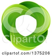 Clipart Of A Circle Of Green Leaves Royalty Free Vector Illustration