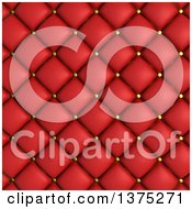 Clipart Of A Background Of 3d Red Quilted Leather Upholstery Royalty Free Illustration