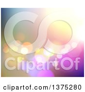 Clipart Of A Background Of Bokeh Lights Over Gradient Colors Royalty Free Illustration