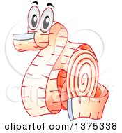 Clipart Of A Measuring Tape Character In The Shape Of A Dragon Royalty Free Vector Illustration by BNP Design Studio