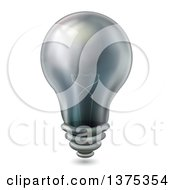 Clipart Of A Black Light Bulb Royalty Free Vector Illustration by BNP Design Studio