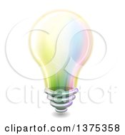 Clipart Of A Colorful Light Bulb Royalty Free Vector Illustration
