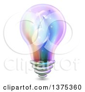 Clipart Of A Colorful Light Bulb With A Music Note On The Inside Royalty Free Vector Illustration by BNP Design Studio