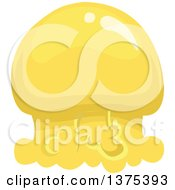 Clipart Of A Yellow Jellyfish Royalty Free Vector Illustration by BNP Design Studio