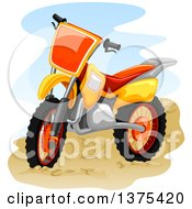 Clipart Of A Motocross Bike Royalty Free Vector Illustration