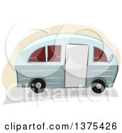 Clipart Of A Camper Trailer Royalty Free Vector Illustration