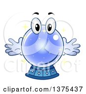 Clipart Of A Crystal Ball Character Royalty Free Vector Illustration by BNP Design Studio