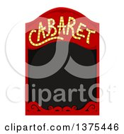Clipart Of A Red Cabaret Frame Around Black Text Space Royalty Free Vector Illustration