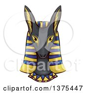 Clipart Of A Face Bust Of The Ancient Egyptian God Anubis Royalty Free Vector Illustration