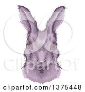 Clipart Of A Bust Portrait Of A Rabbit Royalty Free Vector Illustration by BNP Design Studio