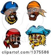 Tough Black Male Pirate Faces