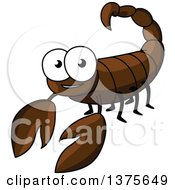 Clipart Of A Happy Scorpion Royalty Free Vector Illustration by Vector Tradition SM
