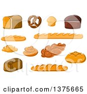 Clipart Of Breads Royalty Free Vector Illustration by Vector Tradition SM