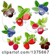 Clipart Of Berries Royalty Free Vector Illustration