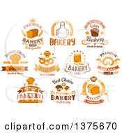 Clipart Of Bakery Designs With Text Royalty Free Vector Illustration by Vector Tradition SM