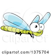 Clipart Of A Happy Dragonfly Royalty Free Vector Illustration by Vector Tradition SM