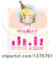 Clipart Of A Blond White Birthday Girl Schedule Design Royalty Free Vector Illustration by Cory Thoman