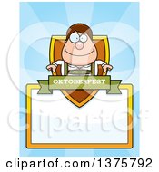 Clipart Of A Happy Oktoberfest German Man Page Border Royalty Free Vector Illustration