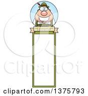 Clipart Of A Happy Oktoberfest German Man Bookmark Royalty Free Vector Illustration