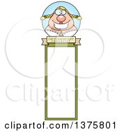 Clipart Of A Happy Oktoberfest German Woman Bookmark Royalty Free Vector Illustration