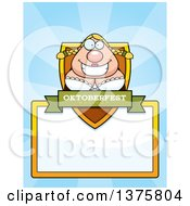 Clipart Of A Happy Oktoberfest German Woman Page Border Royalty Free Vector Illustration by Cory Thoman