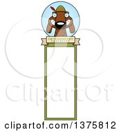 Clipart Of A German Oktoberfest Dachshund Dog Wearing Lederhosen Bookmark Royalty Free Vector Illustration