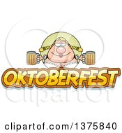 Clipart Of A Happy Oktoberfest German Woman Royalty Free Vector Illustration