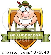 Clipart Of A Happy Oktoberfest German Man Shield Royalty Free Vector Illustration by Cory Thoman