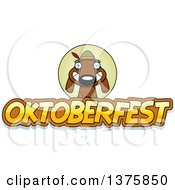Clipart Of A German Oktoberfest Dachshund Dog Wearing Lederhosen Royalty Free Vector Illustration