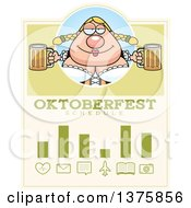 Clipart Of A Happy Oktoberfest German Woman Schedule Design Royalty Free Vector Illustration
