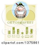 Clipart Of A Happy Oktoberfest German Man Schedule Design Royalty Free Vector Illustration
