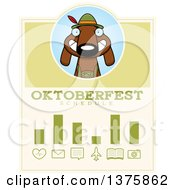 Clipart Of A German Oktoberfest Dachshund Dog Wearing Lederhosen Schedule Design Royalty Free Vector Illustration