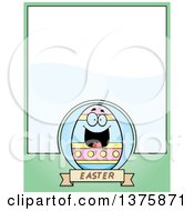 Happy Easter Egg Mascot Page Border