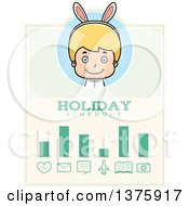 Clipart Of A Blond White Easter Boy Wearing Bunny Ears Schedule Design Royalty Free Vector Illustration