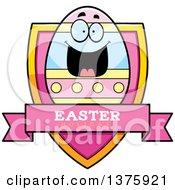 Happy Easter Egg Mascot Shield