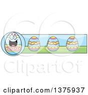 Happy Easter Egg Mascot Banner