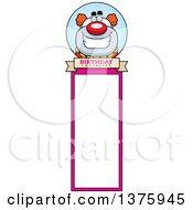 Clipart Of A Happy Pudgy Birthday Party Clown Bookmark Royalty Free Vector Illustration