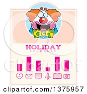 Clipart Of A Happy Pudgy Birthday Party Clown Schedule Design Royalty Free Vector Illustration