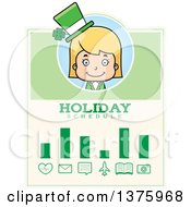 Blond White St Patricks Day Girl Schedule Design