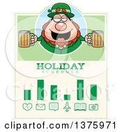 Happy St Patricks Day Leprechaun Schedule Design