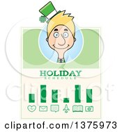 Skinny Blond White Male Irish St Patricks Day Leprechaun Schedule Design