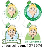 Badges Of A Skinny Blond White Male Irish St Patricks Day Leprechaun