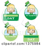 Badges Of A Blond White St Patricks Day Girl