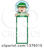 Clipart Of A Red Haired Irish St Patricks Day Boy Bookmark Royalty Free Vector Illustration