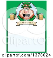 Happy St Patricks Day Leprechaun Page Border