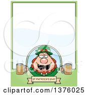 Clipart Of A Happy St Patricks Day Leprechaun Page Border Royalty Free Vector Illustration by Cory Thoman