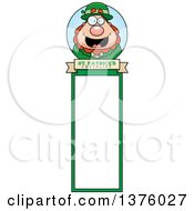 Clipart Of A Happy St Patricks Day Leprechaun Bookmark Royalty Free Vector Illustration